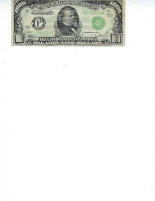 1934 A Us $1000 One Thousand Dollar Federal Reserve Note
