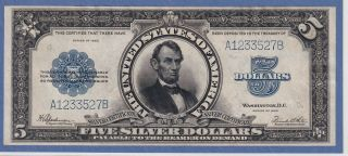 Fr 282 1923 $5 Large Size Silver Certificate Gem Uncirculated / Scarce