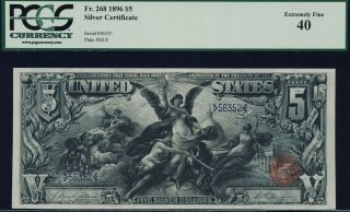 Fr.  268 $5 1896 Educational Silver Certificate Pcgs 40