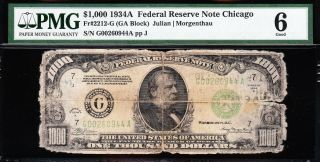 Affordable 1934 A $1000 Chicago Frn $1,  000 Bill Pmg 6 5266