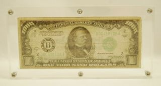 1934 - A $1000 One Thousand Dollar Federal Reserve Note - York - B00418728a