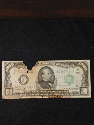 1934 Frn $1000 Atlanta One Thousand Dollar Bill Fr 2211 - F