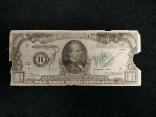 1934 - A Frn $1000 One Thousand Dollar Bill Ney York Fr 2212 - B