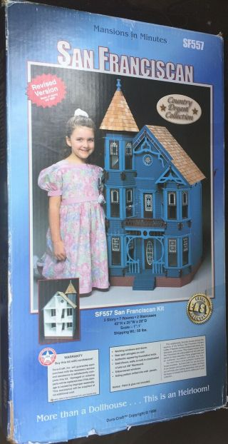 Dura - Craft San Franciscan Miniature Mansion Kit (sf557) - Incomplete