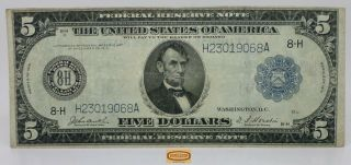 Fr.  874 1914 St.  Louis Large Federal Reserve Note $5 - 17353