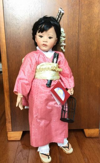 "Porcelain Doll - Never Displayed - Japanese "" Miaka "" By Amalia Pastor"