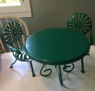 American Girl Kit's Dining Set Table And Chairs