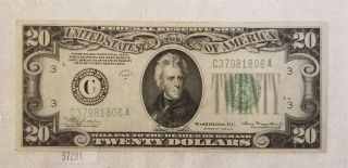 West Point Coins 1934 - A $20 Federal Reserve Note