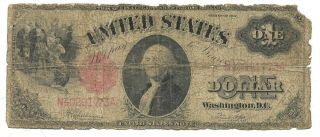 Us Large Size $1.  00 U.  S.  Note - Series 1917 - Fair
