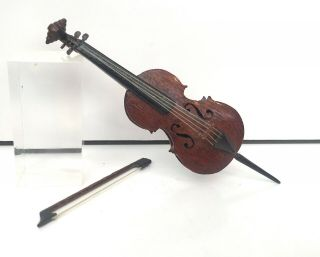 Artisan Hand Crafted Cello Musical Instrument Music Dolls House Dollhouse