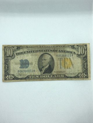 $10 Silver Certificate Series Of 1934 A Julian - Morganthau