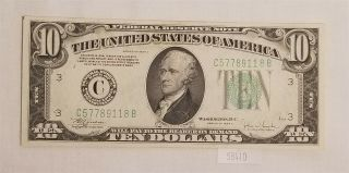 West Point Coins 1934 - C $10 Federal Reserve Note Gem - Bu