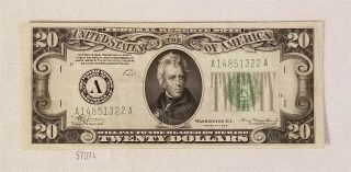 West Point Coins 1934 $20 Federal Reserve Note