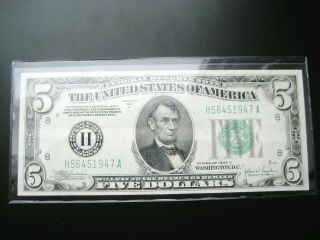 $5 1934 C St.  Louis Federal Reserve Note Choice Au Note