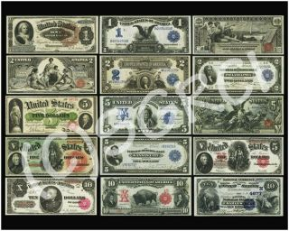 """United States Large Size Currency Paper Money Poster 16 """" X 20 """""""