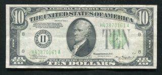 1934 - A $10 Ten Dollars Frn Federal Reserve Note St.  Louis,  Mo Very Fine,  (c)