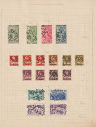 Switzerland Early 20th Cent Coll,  A Study Of Defins With High Value 7 Pgs (y26)