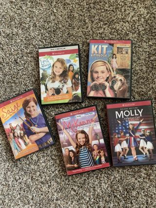 American Girl Molly,  Kit,  Mckenna,  Lea And Saige Dvd Movies Pre Owned