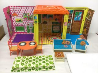 Vintage Barbie Country Living Home With Furniture