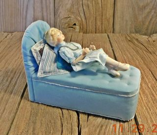 Handmade Dollhouse Display Doll Crafted By The Small Doll Company Iowa Blonde