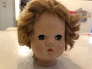 Doll Head Creepy Plastic Repurpose Steampunk Craft Supplies Eyes Open And Shut