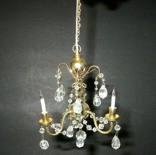 Victorian Style Doll House Hand Crafted Crystal Chandelier,  Cir - Kit Concepts