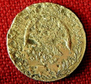 Rough - Ish 1883 Piece Of 8 Or 8 Reale From Uss Charlston Shipwreck Sunk 1899